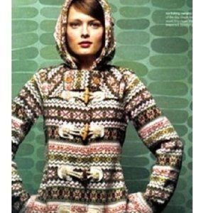 SPARROW Archival Collection Fair Isle Sweater Coat
